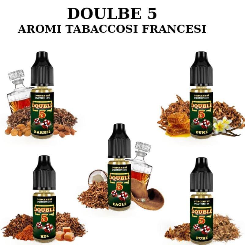 Double 5 sono i migliori aromi tabaccosi Francesi