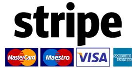 Logo pgamenti stripe carte di credito