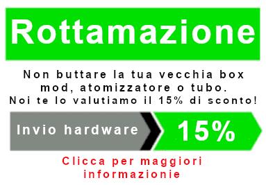 Rottamazione sigaretta elettronica atomizzatore con sconto del 15%